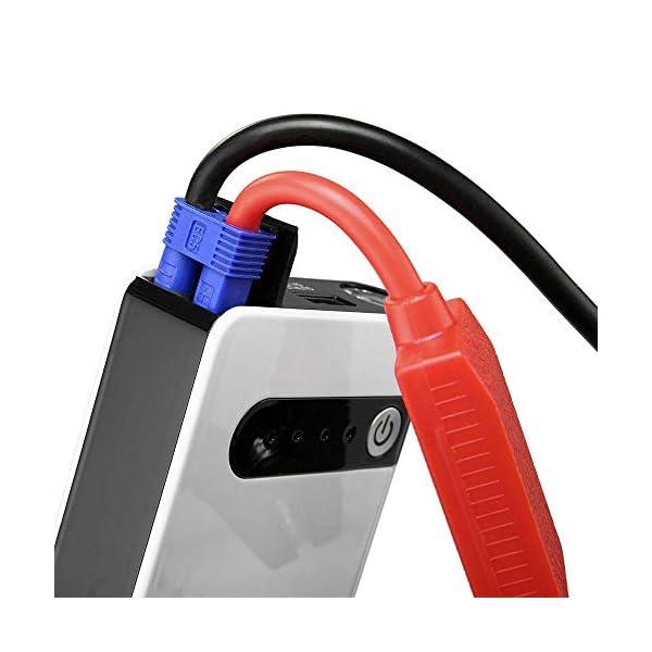 Arrancador de Coche 400A Peak 20000mAh 12V Arrancador de Baterias de Coche Linterna LED & USB de CargaRápida