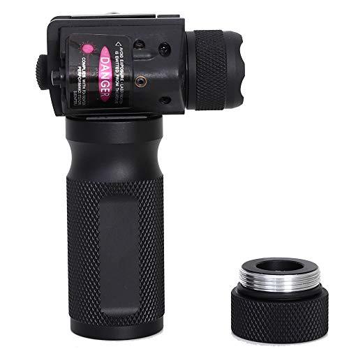Honestill 200 Lumen Tactical Flashlight Super Bright Handheld Flashlight with Rail Mount, Anti-Slip Silicone Flashlight.