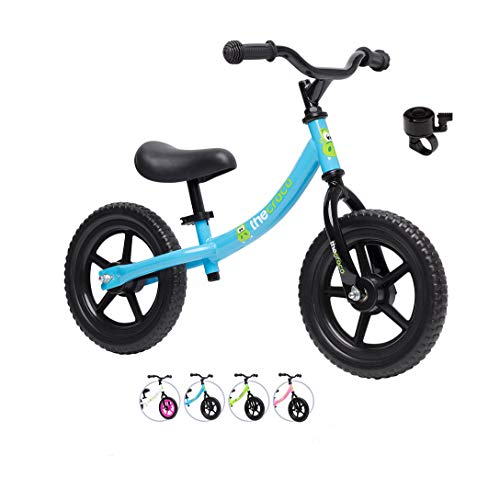 TheCroco Lightweight Balance Bike for Toddlers and Kids… (Light Blue, Basic Model (Steel))