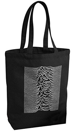 Joy Division - Unknown Pleasures/Stoffbeutel Canvas Bag Shopper/Black SCHWARZ