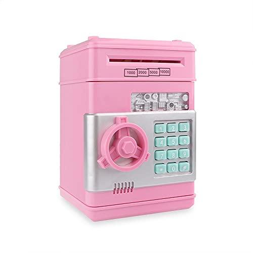 KAZOKUYiZi Electronic Piggy Bank ATM Password Money Box Cash Monedas Ahorro Caja ATM Bank Caja Seguridad Caja Automática Billete de Banco (Color : Rosado)