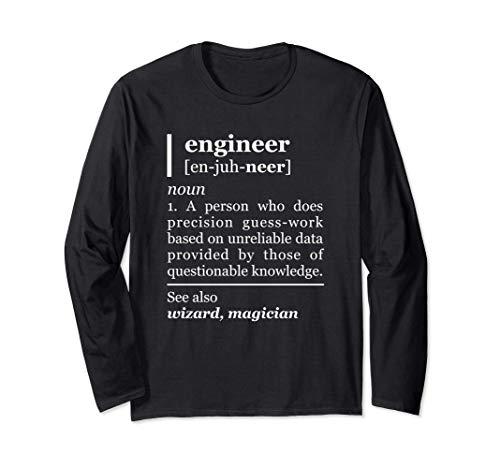 Engineer Definition Description Christmas Humor Engineering Manga Larga