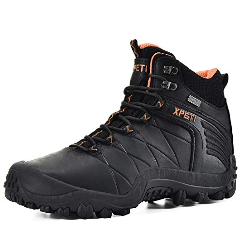 XPETI Men's Quest Mid Waterproof Hiking Boot (7, Black)
