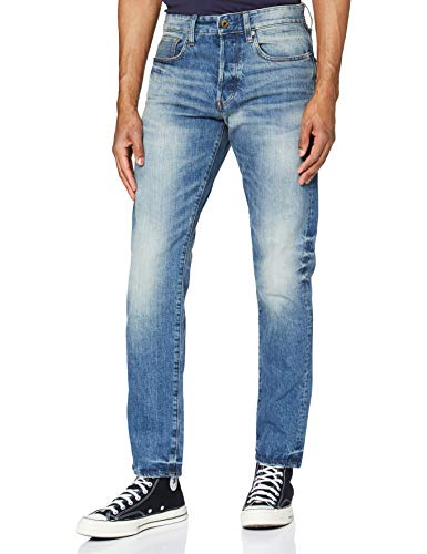 G-STAR RAW 3301 Straight Tapered Jeans, Azul (medium aged 8595-071), 31W / 34L para Hombre