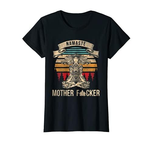 Damen Yoga Namaste Mother Gift Tee Vintage Namaste T-Shirt