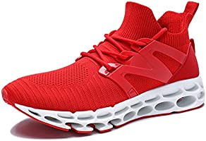 UMYOGO Women's Running Shoes Non Slip Athletic Tennis Walking Blade Type Sneakers