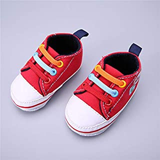 WARMSHOP 2018 Fashion Baby Girls Slip-On Bowknot Soft Sole Crib Toddler First Walker Canvas Shoes