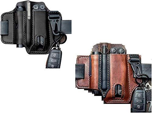LUCKYYL lederwerkzeug Set, Werkzeug Holster Leder, Lederscheide Pocket Klappmesser Multi Tool Case Pouch Holster,Black,1pcs