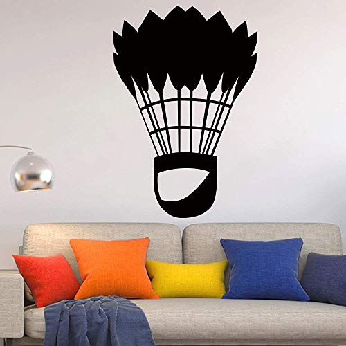 Klassische Badminton Sportkunst Wandaufkleber für Wohnkultur Wohnzimmer Wanddekoration Aufkleber Aufkleber Tapeten Wandbilder 43x63cm