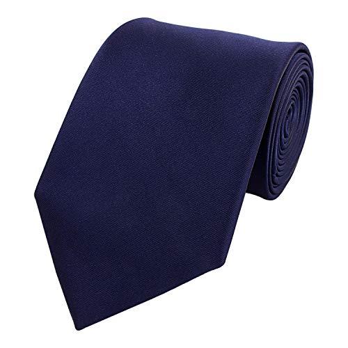 Fabio Farini - Cravate unie élégante en différentes couleurs au choix bleu-foncé 6 cm