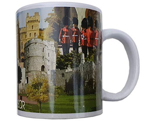 Windsor Fotocollage-Tasse – Schloss – Royal Residence – Great Park – Guards – für Americano Kaffee/Tee/heiße Schokolade/Kakaomilch/Cappuccino/Caffe Latte/Souvenir aus England UK / für Zuhause Küche