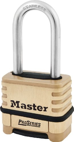 """Master Lock 1175LHSS ProSeries Set Your Own Combination Lock, 2-1/4"""" Wide, Brass"""