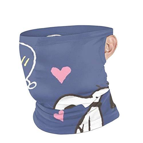 Halsmanschette Sturmhaube Bandana Kopfbedeckung - Wow Snoopy Sports Gesichtsschal Gesichtsschutz für Dust Outdoor Black