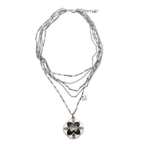 Guess UBN91001 - Collar de Metal bañado en Plata con circonita