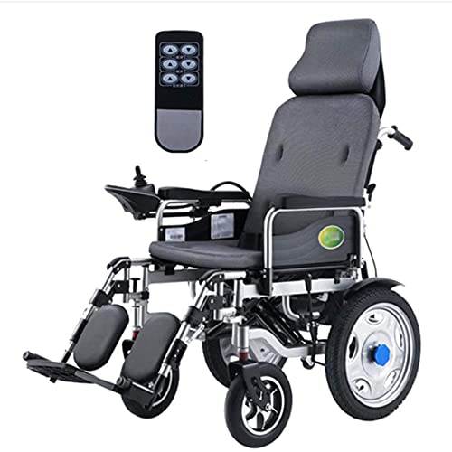 WXDP Eléctrica autopropulsada de alto rendimiento con reposacabezas, silla de ruedas portátil plegable y ligera con control remoto, energía eléctrica o manipulación manual