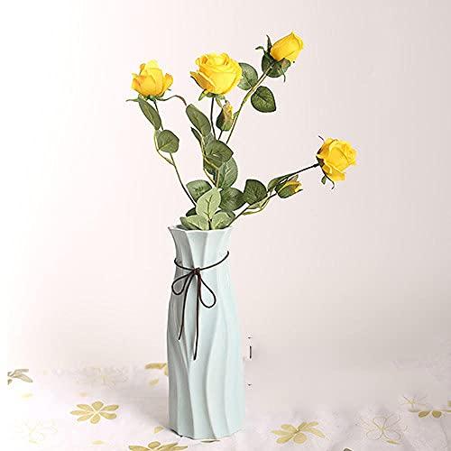 Sonze 6 Primera Rosa de simulación, decoración de Flores de Seda de Boda-F,Ramos de Novia, arreglos Florales,Flor Falsa para Boda Decoración