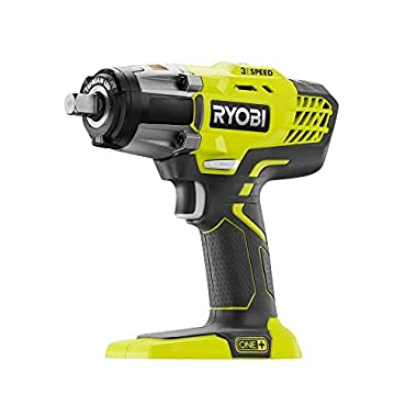 Ryobi P261 18 Volt One+ 3-Speed 1/2 Inch Cordless Impact Wrench w/ 300 Foot Pounds of Torque and 3,200 IPM (Batteries Not Included, Power Tool Only)