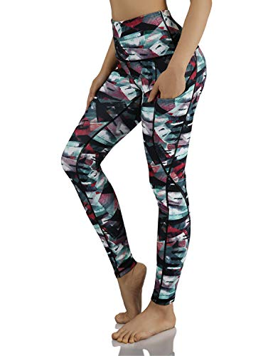 ODODODOS Women's High Waisted Pattern Leggings, Tummy Control, Workout Yoga Pants with Out Pockets,FineArtWine,Medium