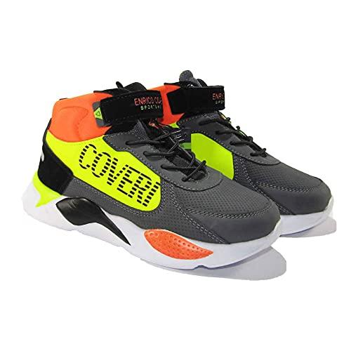Enrico Coveri Sportswear CKS124306 - Zapatillas deportivas para niño, Boulevard Balck Multi, 34 EU