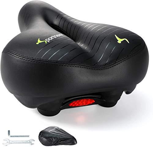 Fahrradsattel, Sportneer Fahrradsitz für Herren Damen Bequem Wasserdicht Atmungsaktiv mit Regenschutz und Werkzeugen, für City Rennrad MTB