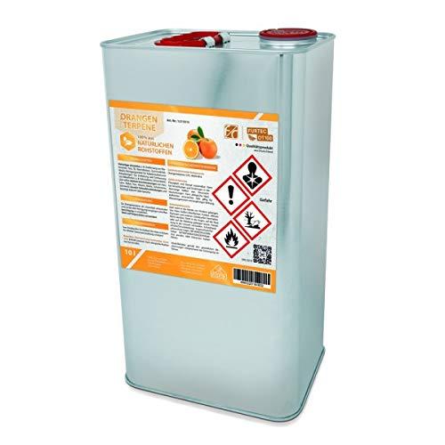 Orangenterpene 100%, Idealer Etikettenlöser & Klebereste-Entferner für Autolack, Fensterrahmen, Kunststoff, Glas, 5 L