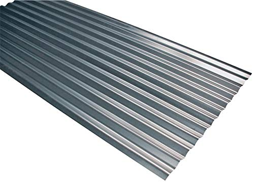 Tôle de couverture ondulée et galvanisée, 200x 90cm, épaisseur 0,25mm