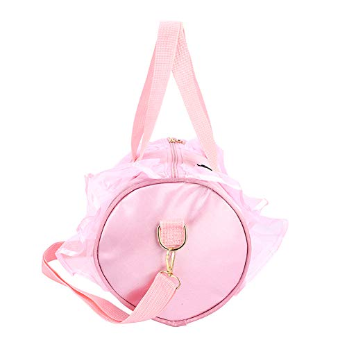 Cosiki Bolso de Baile, Bolso de Ballet, Bolsos de Baile, Correa de Hombro Ajustable para niñas, Bolsos de Baile de Gran Capacidad para niña en casa(Pink Long Yarn)