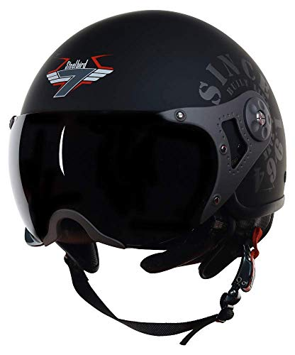Steelbird SB-27 7Wings Tank Open Face Graphic Helmet (Large 600 MM, Matt...