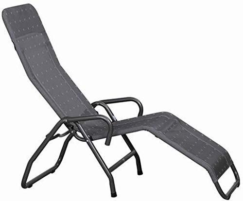 LLPXCC Outdoor Rattan Rattanliege Lounger belastbar bis 150 kg mehrfach verstellbare Rückenlehne braun Gartenliege Relaxliege Liegestuhl Rattanmöbel@Brown HD-1983