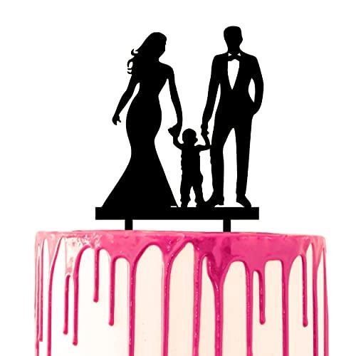 CARISPIBET Cake topper coppia che tengono le mani con il matrimonio del bambino