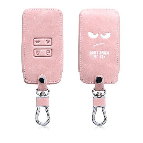 kwmobile Funda Compatible con Renault Llave de Coche Smart Key de 4 Botones (Solo Keyless Go) - Cubierta de Cuero sintético - Case para Mando y Control de Auto Don't Touch my Key