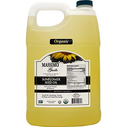 Massimo Gusto USDA Organic Sunflower Oil - 1 Gallon F-Style HDPE (128Fl Oz) - Pack of 1