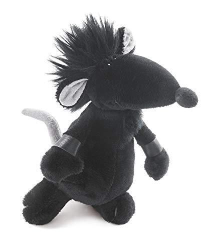 Rock-Star-Baby Stofftier Ratte in schwarz - Perfektes kuscheltier für jedes Kinder-Bett RSB