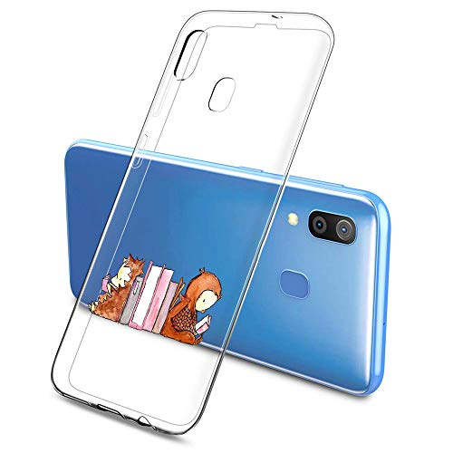 Oihxse Compatible pour Silicone Samsung Galaxy S8 Coque Crystal Transparente TPU Ultra Fine Souple Housse avec Motif [Elephant Lapin] Anti-Rayures Protection Etui(B2)