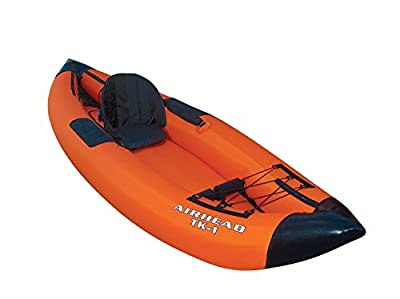 AHTK-1 Airhead Travel Deluxe Kayak, Orange/Blue from Sportsman Supply Inc.