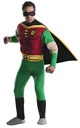 DC Comics Deluxe Muscle Chest Robin Adult Costume, Small