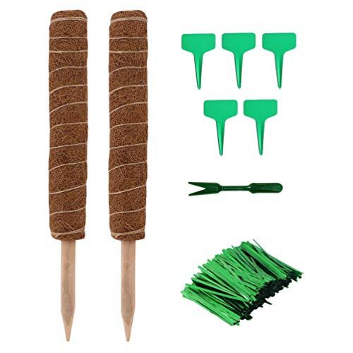 YARNOW Moospfahl für Kletterpflanzen Kokos Totempfahlpflanze Unterstützt Moosstock für Monstera Kletterpflanzen Pothos Und Kletterpflanzen