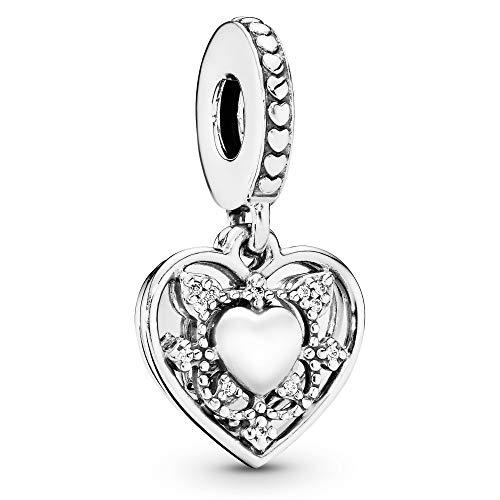 Pandora Jewelry My Wife Always Heart Dangle Cubic Zirconia Charm in Sterling Silver