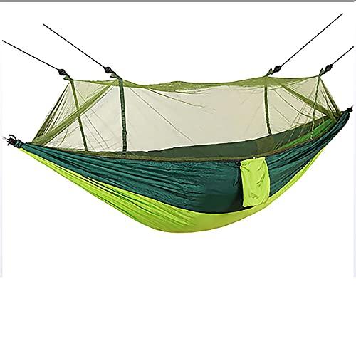 QYQS Suministros para Exteriores Tela de paracaídas mosquitera Hamaca 210t Tela de Nailon Hamaca para Acampar prevención de vuelcos para Senderismo Mochila de Viaje jardín