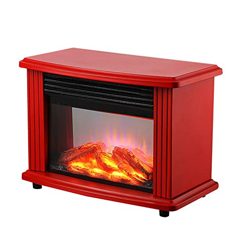 Elektro open haard vlammeneffect regelbaar geluidsarm 900 of 1800 watt verwarmingsvermogen thermostaat rookvrij van verwarmingskachel rood