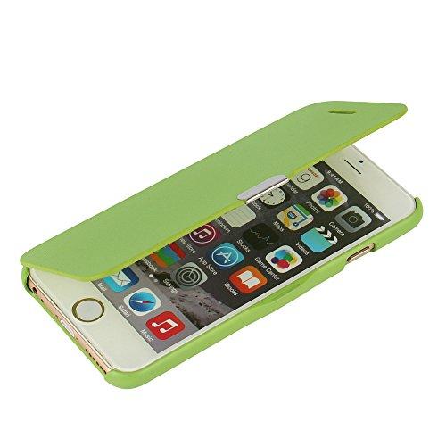 MTRONX für iPhone 6s Hülle, iPhone 6 Hülle, Magnetisch Dünn Leder Folio Flip Klapphülle Etui Schutzhülle Tasche Case Cover für Apple iPhone 6 iPhone 6s - Grün(MG-GN)