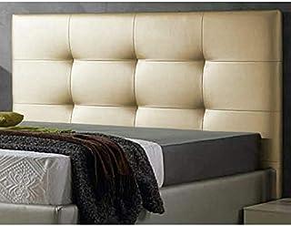 cabeceros de Cama 150 Texass cabeceros tapizados de Madera cabecero Acolchado cabecero Polipiel Blanco cabeceros para Dormitorio cabecero de Cama (Beige, 150 * 70)