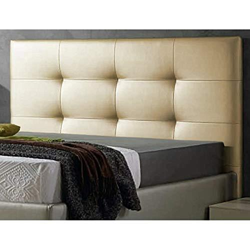 ED Cabecero Cama tapizado Polipiel Mod. Texas Todas Las Medidas y Colores (Dorado, 150 * 70)