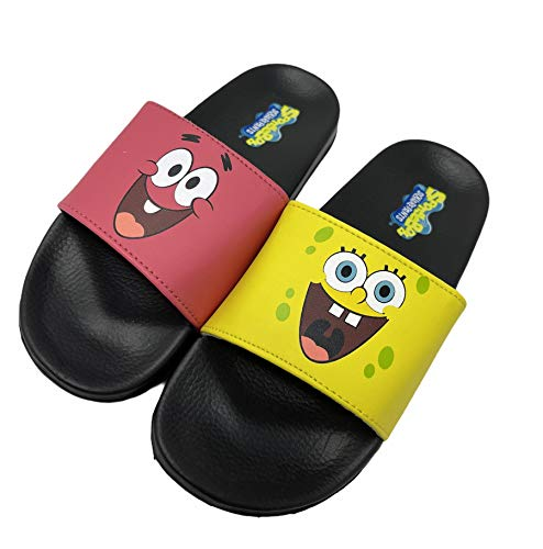Nickelodeon Spongebob & Patrick Sandals - Boys Soccer Slides (Little Kid/Big Kid) (numeric_11)