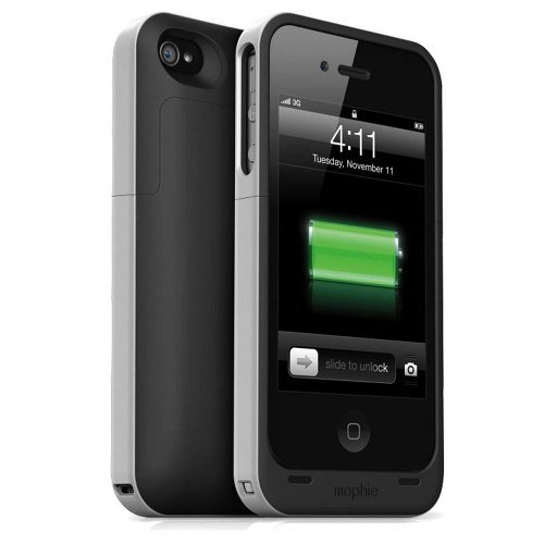 【日本正規代理店品】mophie juice pack air for iPhone 4S/4 ブラック MOP-PH-000007