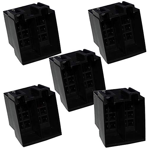 AERZETIX - 5 x Anschlussstecker ISO 16 Pin schwarz leer ohne Pin für Autoradio C41252