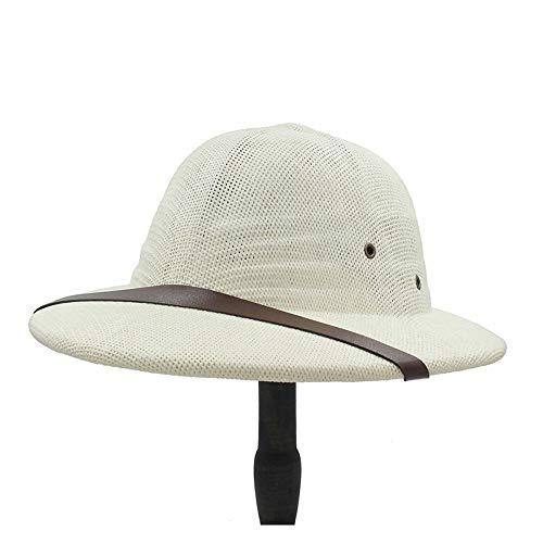 Sombrero De Bombín Simple, Sombrero Militar De La Guerra De Vietnam, Sombrero De Paja De Explorador Para Hombres Y Mujeres, Sombrero De Verano Con Lazo, Sombrero De Sol, Som(Size:57-58cm,Color:Blanco)