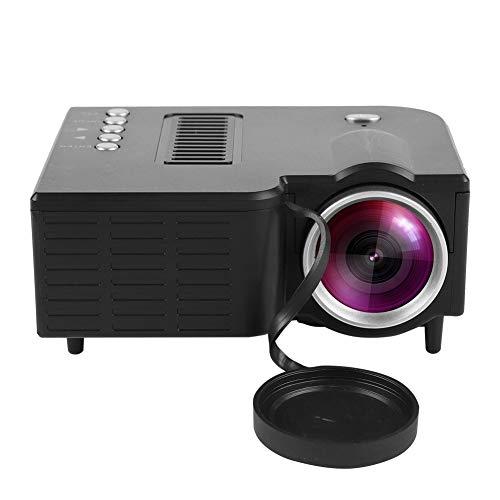 Mugast UC28 Mini Proyector Portátil HD LED 1080P Vídeo Proyector Cine en Casa,con 100,000 Horas de Uso, Soporta Más de 15 Formatos de Video y Audio.(Negro)