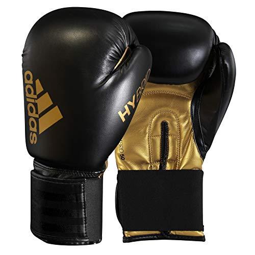adidas Gants de Boxe Hybrid 50 pour Homme Noir/doré 14 oz