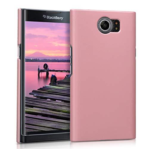 kwmobile Hülle kompatibel mit BlackBerry Priv - Handy Case Handyhülle - Backcover Hardcover Cover Schutzhülle Rosegold matt